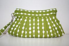 Stockholm Dots on String Green and White  by Themidnightsundesign, $24.00