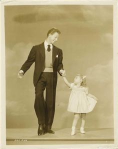 Donald O'Connor and his daughter. Sweet.