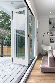 Folding patio doors by Heather Merenda