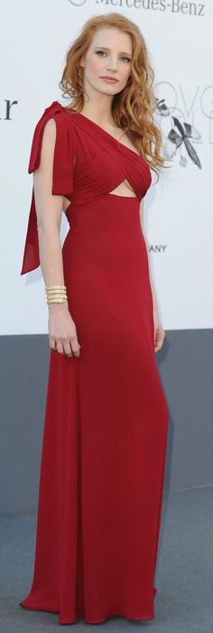 Jessica Chastain | Saint Laurent | amfAR Cinema Against AIDS Gala 2013