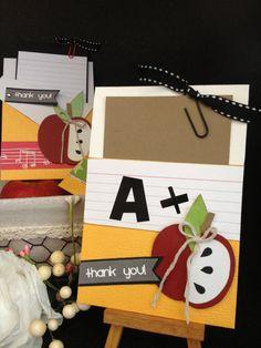 Teacher thank you card teacher appreciation card by callmecr Teacher Appreciation Cards, Teacher Thank You Cards, Teacher Christmas Gifts, Teacher Gifts, Presents For Teachers, Cricut Cards, Fall Cards, Creative Cards, Kids Cards