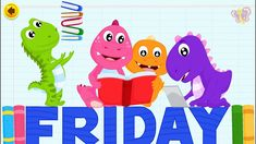 Days of the Week Song | The Dinosaurs Song | Animated Popular Nursery Rh...