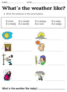 Weather teaching resource - Label the weather picture