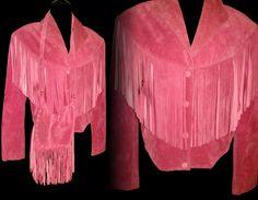 Vintage 1960s Coat .  Pink . Suede Leather .  by vintagediva60