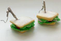 Boucles d'oreille sandwich : Boucles d'oreille par 1000-grues-et-3-donuts