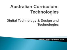An update on the Australian Curriculum, Technologies from a WA perspective.
