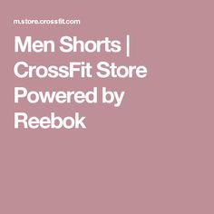 Men Shorts | CrossFit Store Powered by Reebok