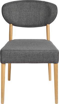Svært komfortabel spisestol i heltre eik og stoff i grå farve. Passer både som spisestol og kontorstol.