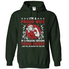 Proud Truck Drivers Wife T-Shirts, Hoodies. BUY IT NOW ==► Funny Tee Shirts