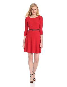 Amazon.com: Anne Klein Women's Petite Jersey Swing Dress: Clothing