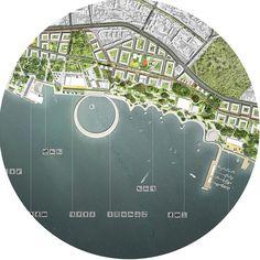 "Competition project proposal ""BAKU shore line regeneration"" Project team: Didorenko + PORTAL Honorable mention"