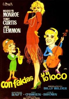 "MP977. ""Some Like It Hot"" Spanish Movie Poster by Jano (Billy Wilder 1959) / #Movieposter"