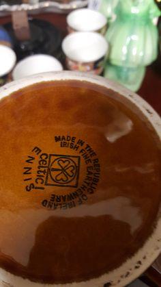 base of tankard seen at Herman Wilkinson auctioneers Celtic, Irish, Base, Ceramics, Tableware, Ceramica, Pottery, Dinnerware, Irish Language