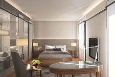 The Landmark Mandarin Oriental hotel guestrooms by Joyce Wang, Hong Kong…
