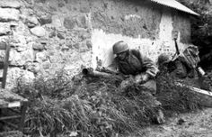 German Fallschirmjäger in Normandy.