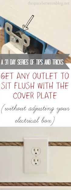 one quick tip to getting your outlets to sit flush with your cover plates, part of a great 31 day series of useful tips and tricks!