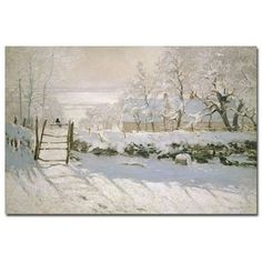 """Trademark Art """"The Magpie, 1869"""" by Claude Monet Painting Print on Canvas & Reviews   Wayfair.ca"""