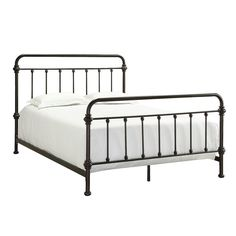HomeSullivan Calabria Metal Full-Size Bed-40E411B211W(3A)[BED] at The Home Depot