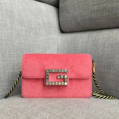Gucci Velvet Shoulder Bag with Square G 544242 cmTurquoise satin liningBlack and gold torchon strap Gucci Handbags Sale, Velvet, Shoulder Bag, Pink, Shoulder Bags, Pink Hair, Roses