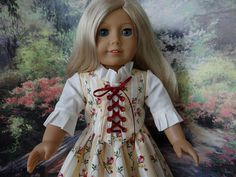 1700s Colonial style two piece gown for von ValorieoftheDolls