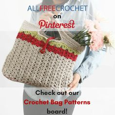 252 Best Free Crochet Bag Patterns Images In 2019 Free Crochet Bag