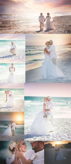 BEACH WEDDING POSES Im in love with this beach wedding I shot on the beaches of Destin, Florida. Beach weddings are magical!