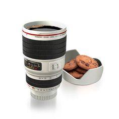 Gadgets Categorias Regalos originales Taza mug lente de camara fotografica copa 450ml-