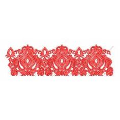New Red Work Embroidery Border Design Border Embroidery Designs, Machine Embroidery Designs, Border Design, Design Reference, Sewing, Red, Dressmaking, Couture, Stitching