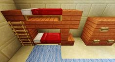 Minecraft Bunkbed design click for a tutorial
