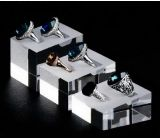 Factory direct sale clear acrylic block ring display stand jewellery display stand JDK-047