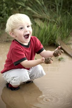 Little boy and mud...Protect all children from abuse. repinned: www.brindacarey.com.