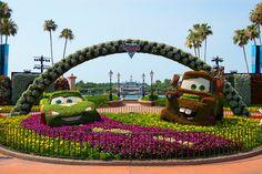 Epcot Internation Flower and Garden Festival 2011 | Disney Pixar Cars 2 Topiary by Scott Sanders [ssanders79], via Flickr
