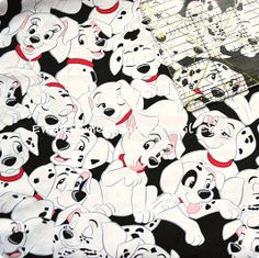 ge503  1 Yard Cotton Woven Fabric  Disney Cartoon by dotcn on Etsy, $12.00