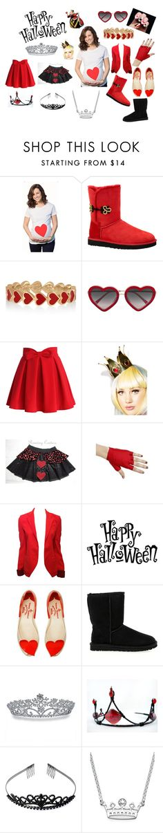 """""""Halloween Mommy DIY Queen of Hearts!"""" by gurlgongod on Polyvore featuring UGG Australia, Alison Lou, Markus Lupfer, Chicwish, Elope, Balenciaga, Vivienne Westwood Anglomania + Melissa and Bling Jewelry"""