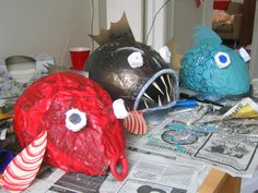 Paper Mache Fish mask    how to make a fish mask - Google Search