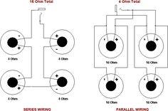 Series & Parallel Wiring - 4 Speakers