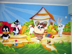 ταζ τοιχογραφια Looney Tunes, Snoopy, Fictional Characters, Art, Art Background, Kunst, Performing Arts, Fantasy Characters, Art Education Resources