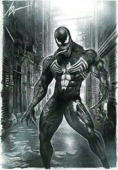 Venom black & white