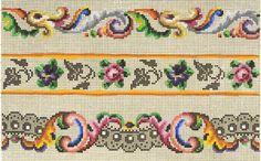 Cross Stitching, Cross Stitch Embroidery, Hand Embroidery, Embroidery Patterns Free, Cross Stitch Patterns, Vintage Borders, Vintage Cross Stitches, Loom Beading, Knitting Designs
