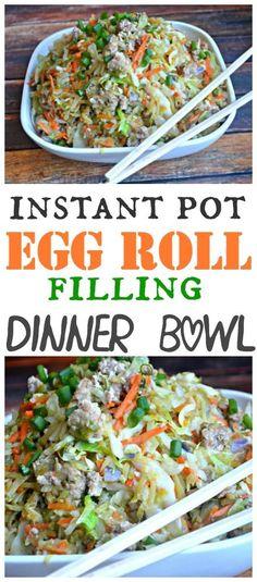 Egg Roll Filling Dinner Bowl – Instant Pot Recipe #instantpot #eggroll #chinesefood #pork #glutenfree #dinner #takeout #makethebestofeverything