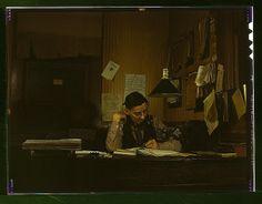 Yardmaster in railroad yards, Amarillo, Texas, 1943