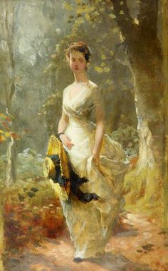 Young Lady in the Forest - George Elgar Hicks