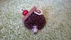 Dekorácia - ježko z kávy