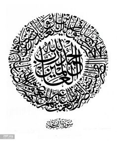 Surat Al Fatiha in Circle Thuluth Calligraphy