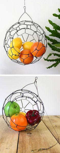 Hanging Sphere Wire Basket |