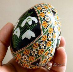 Snowdrops Pysanka Batik Ukrainian Style Easter by PysankyBySoJeo, $150.00