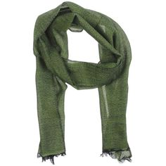 Arcieri Oblong Scarf (7.465 RUB) ❤ liked on Polyvore featuring accessories, scarves, green, long scarves, long shawl, green shawl, green scarves and gauze scarves