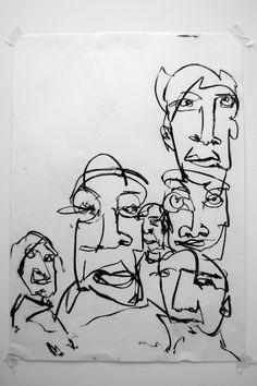 Joe Howlett 'Untitled II' - Charcoal on paper -  2011