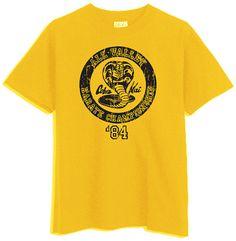 Cobra Kai Karate Kid Gold Yellow TShirt by CasualApparel on Etsy, $7.95