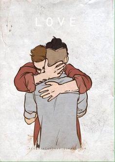 Liam hugging Zayn goodbye ❤️
